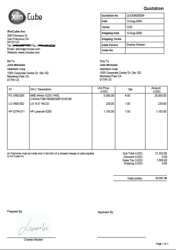 invoice template sample invoice invoice – New Quotation Format